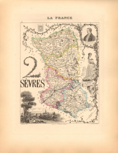 Sevres - French Department Map