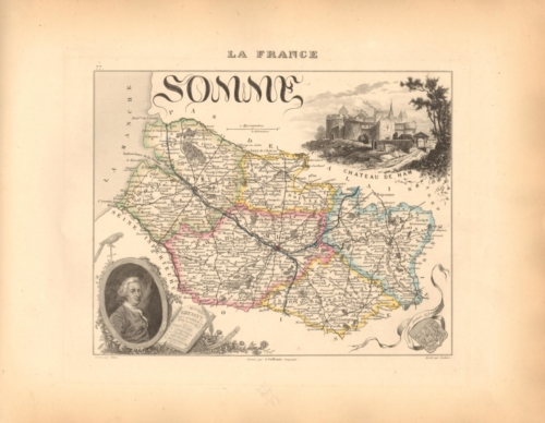 Somme - French Department Map