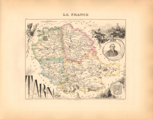 Tarn - French Department Map