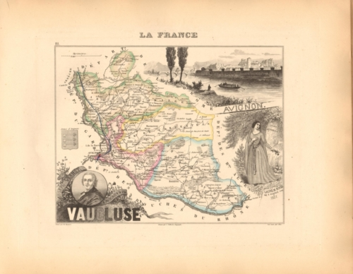 Vaucluse - French Department Map