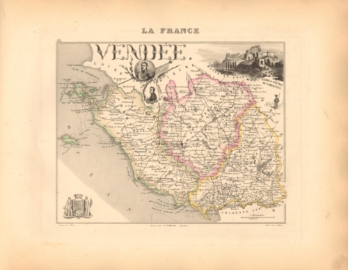 Vendee - French Department Map