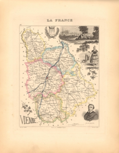 Vienne - French Department Map