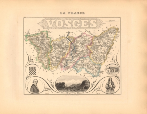 Vosges - French Department Map