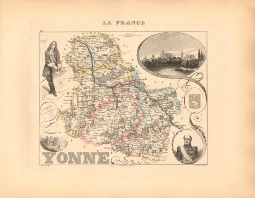 Yonne - French Department Map