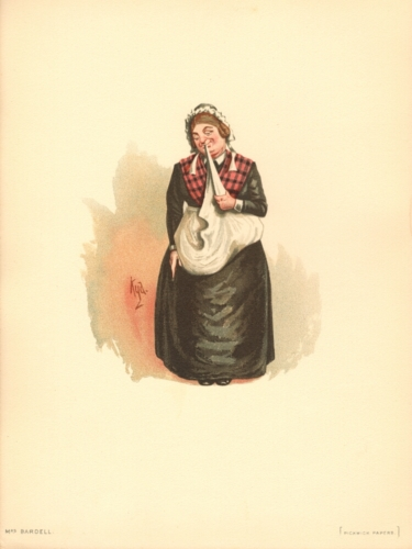 Mrs Bardell from The Pickwick Papers