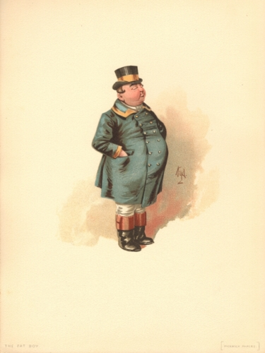 The Fat Boy from The Pickwick Papers