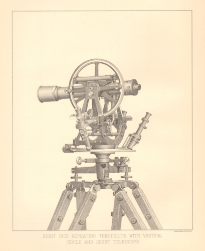 Eight Inch Repeating Theodolite with Vertical Circle and Short Telescope