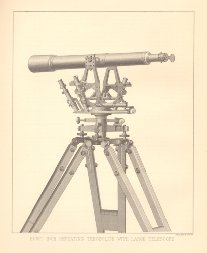 Eight Inch Repeating Theodolite with Large Telescope