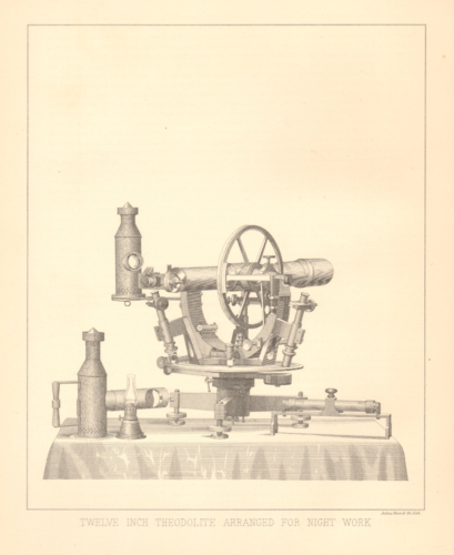 Twelve Inch Theodolite Arranged for Night Work