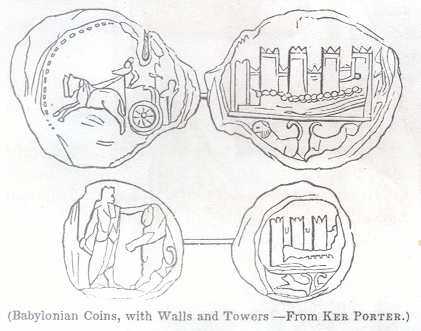 Babylonian Coins with Walls and Towers