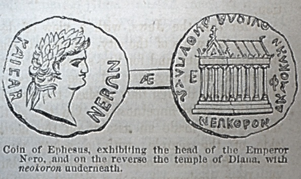 Coin of Ephesus - Nero, Temple of Diana