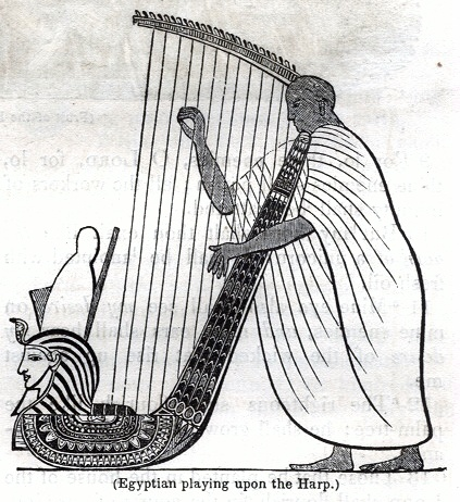 Egyptian playing upon the Harp