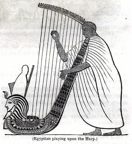 Egyptian playing upon the Harp