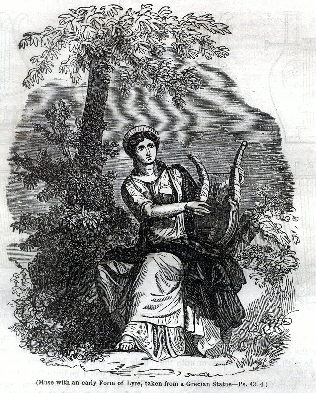 Muse with an early Form of Lyre