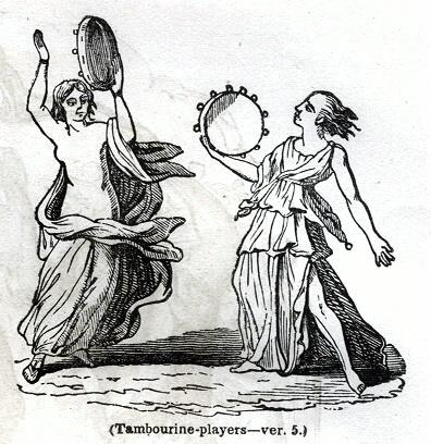 Tambourine-players