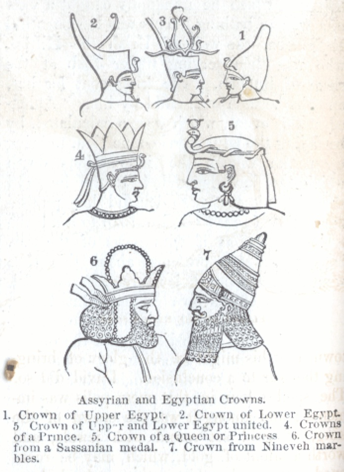 Assyrian and Egyptian Crowns