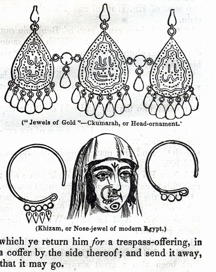 Jewels of Gold, Khizam or Nose-jewel of modern Egypt