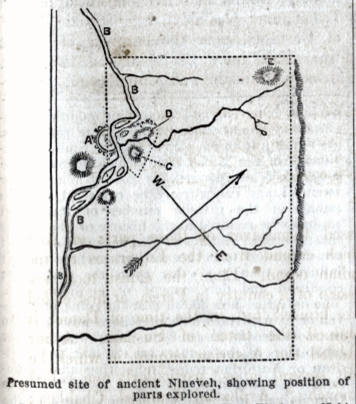 Presumed site of ancient Nineveh Map