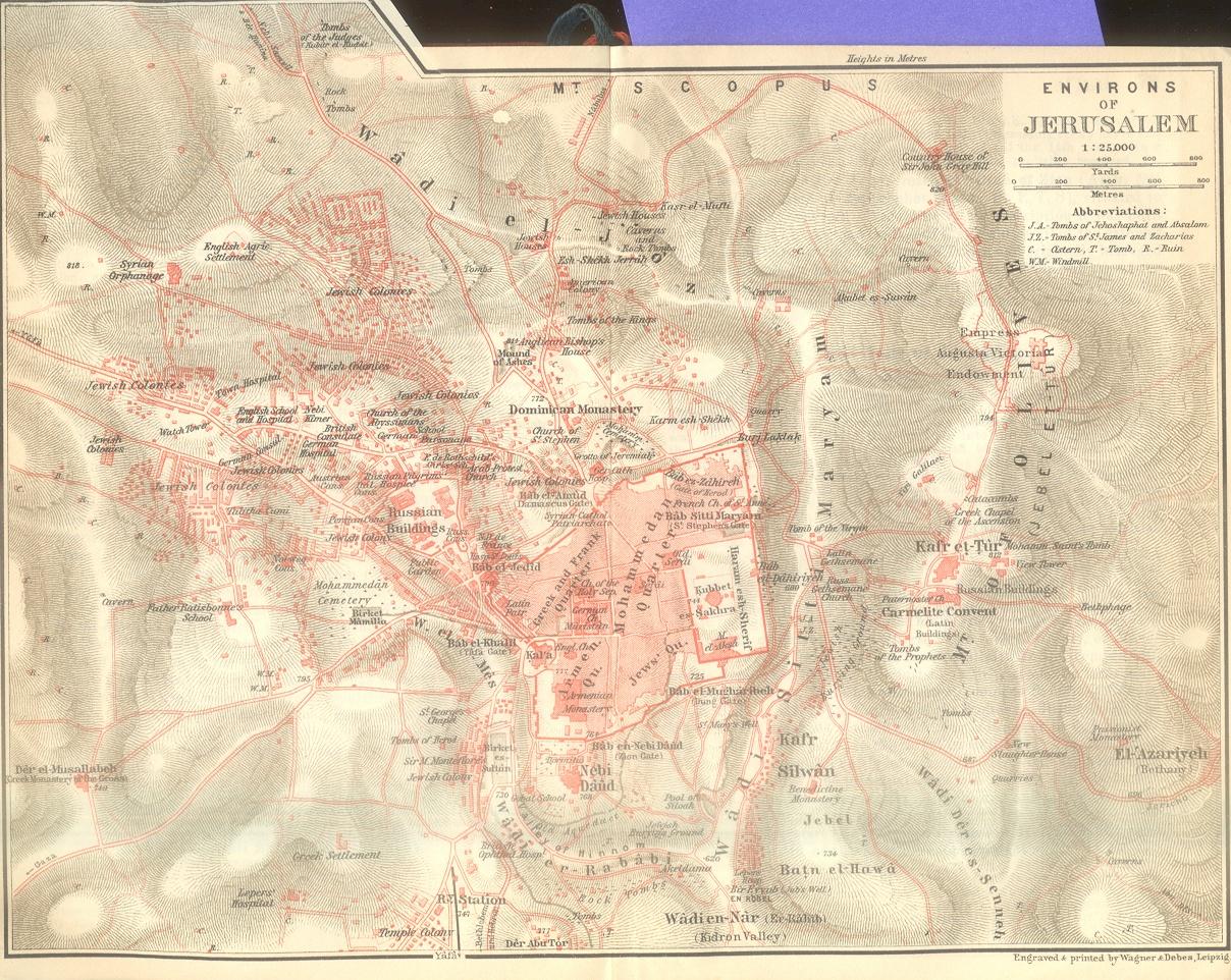 Envorons of Jerusalem Map
