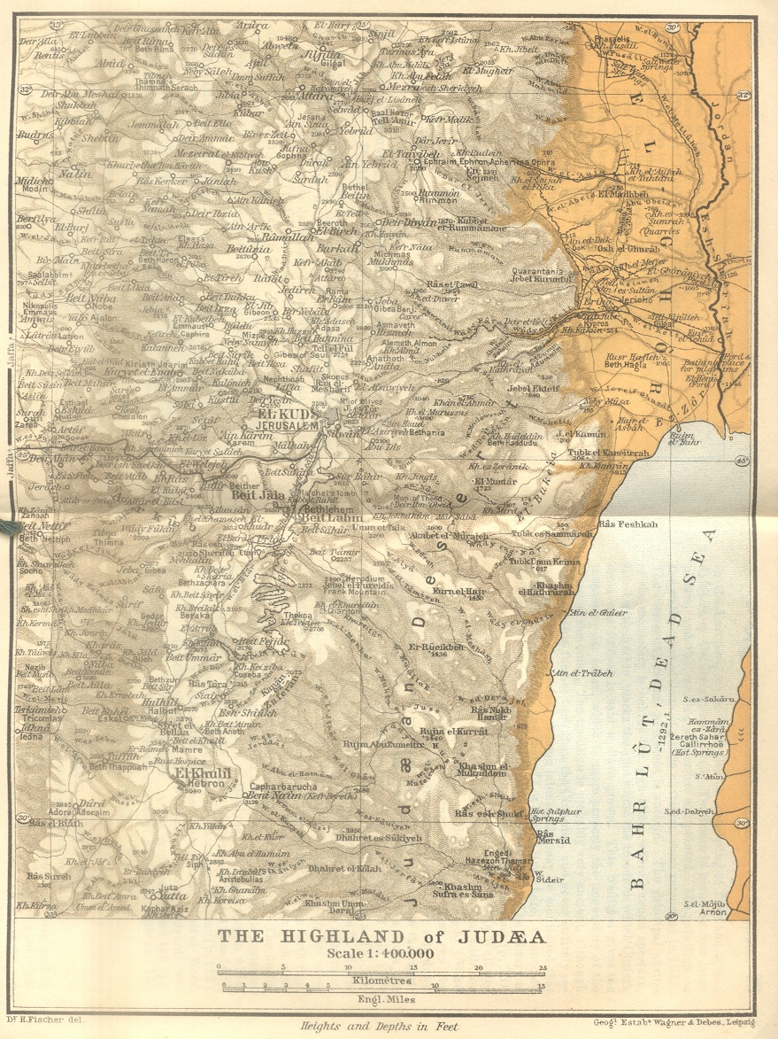 The Highland of Judaea Map