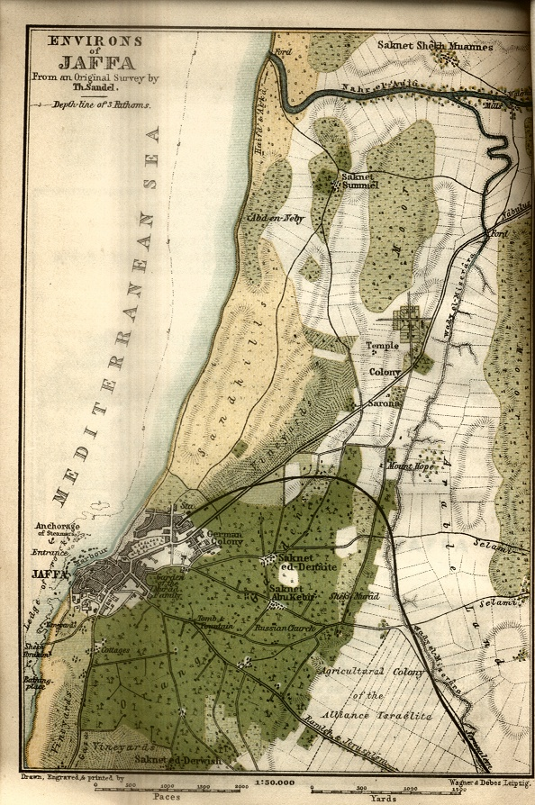 Environs of Jaffa Map