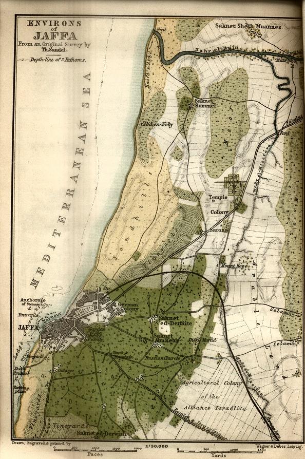 Environs of Jaffa Map