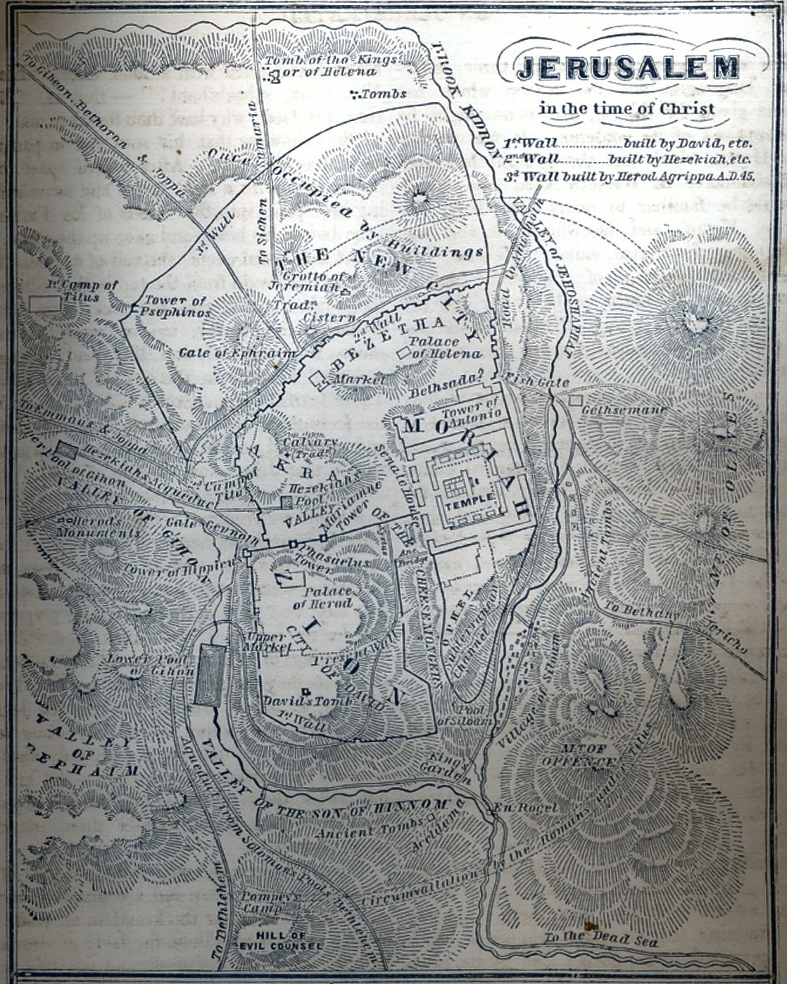 Jerusalem in the Time of Christ Map
