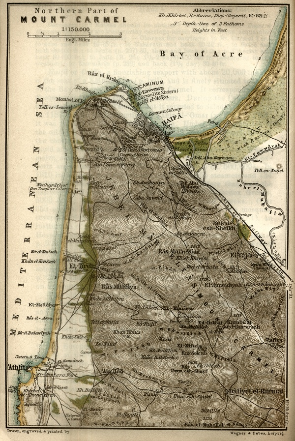 Northwest Part of Mount Carmel Map