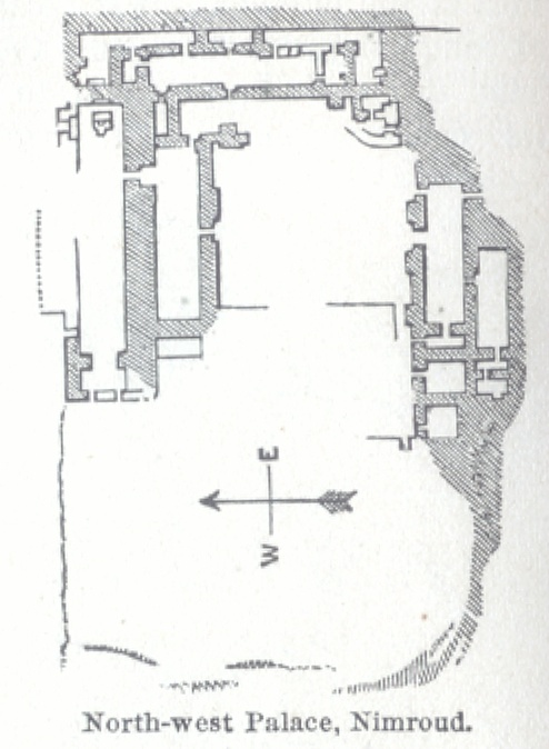 Plan of North-west Palace, Nimroud