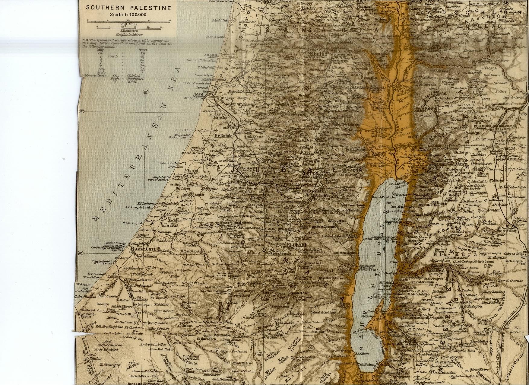 Southern Palestine Map