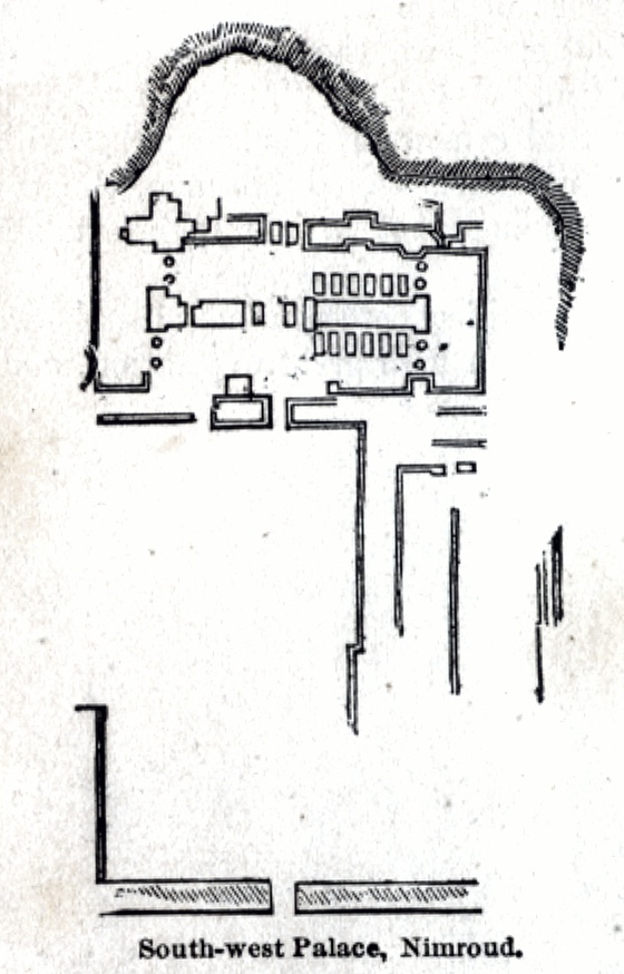 Plan of the South-west Palace, Nimroud
