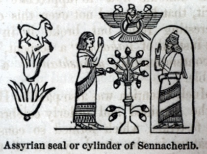 """Assyrian seal or cylinder of Sennacherib 	"""