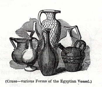 Cruse - various forms of the Egyptian Vessel