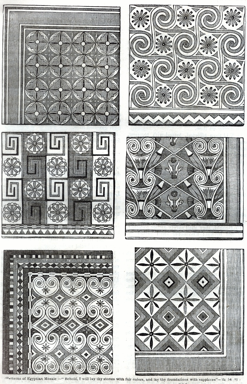 Patterns of Egyptian Moasaic