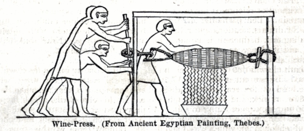 """Wine Press ( From Ancient Egyptian Painting Thebes) 	"""