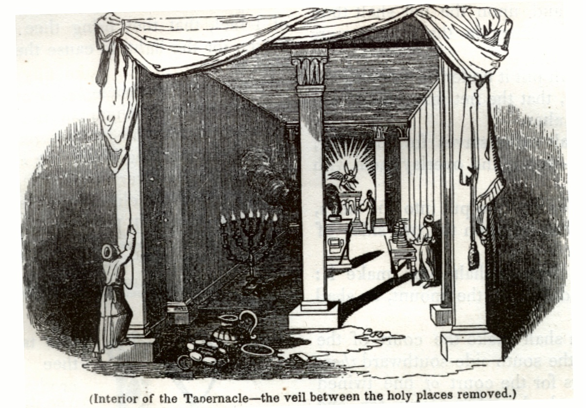 Interior of the Tabernacle - the veil between the holy places removed