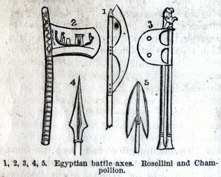 Egyptian battle-axes