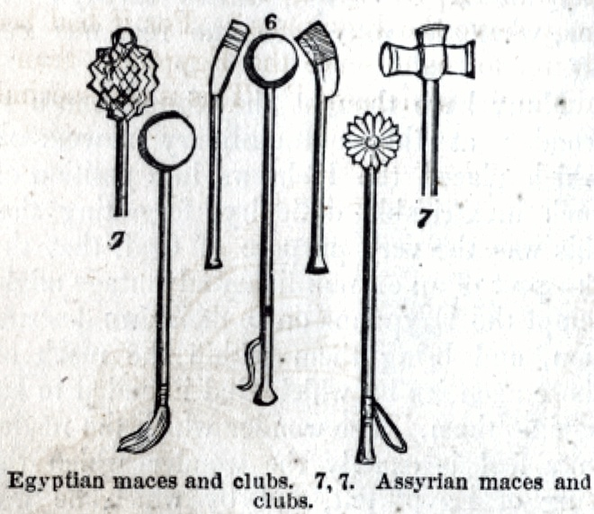 Egyptian and Assyrian maces and clubs