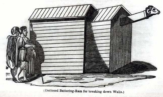 Enclosed Battering-Ram for breaking down Walls