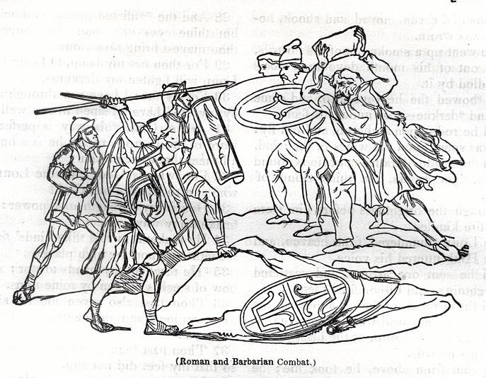 Roman and Barbarian Combat