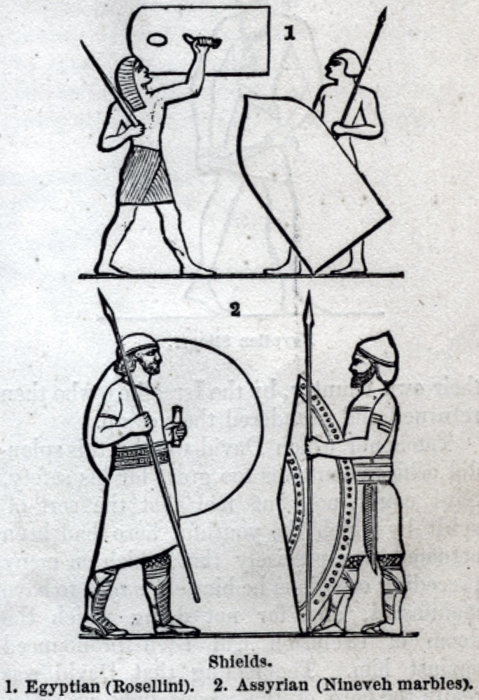 Shields, Egyptian, Asssyrian