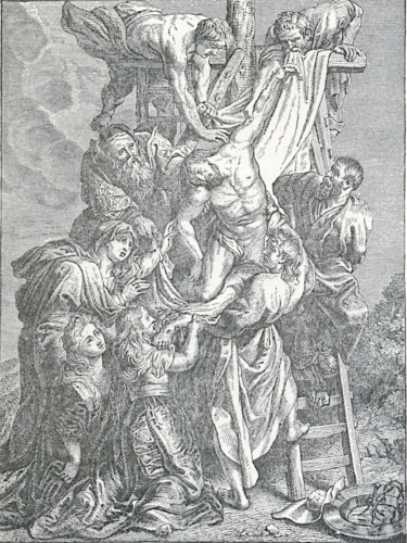 Ruben's Descent from the Cross in Antwerp Cathedral